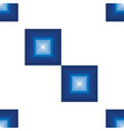 seamless pattern with blue squares vector image