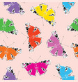 seamless pattern with bright peacock butterflies vector image