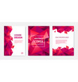 set modern cover design templates vector image