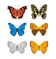 Set of Butterfly vector image vector image
