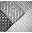set several seamless carbon fiber patterns vector image vector image