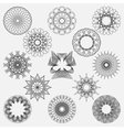 Set spirographic elements Perfect for design vector image vector image