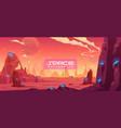 space background alien fantasy planet landscape vector image vector image