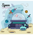 Space Universe Line Poster vector image vector image