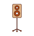speaker in tripod music celebration party vector image