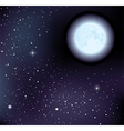 starry sky and moon vector image