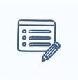Taking note sketch icon vector image vector image