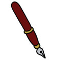 the classic wine red ink pen vector image