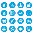 toys icon blue vector image vector image
