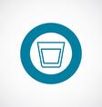 vodka icon bold blue circle border vector image vector image