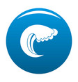 wave water summer icon blue vector image