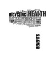 when in doubt bike for better health text word vector image vector image