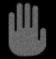 white dot stop hand icon vector image vector image