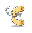 with phone macaroni character cartoon style vector image vector image