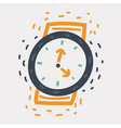 wristwatch icon on white vector image vector image