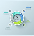 modern round infographic design template with 4 vector image