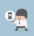 Business recieve incoming call from boss vector image