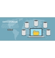 Data storage concept banner vector image