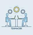 businessmen sitting working laptop teamwork vector image