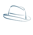 Fedora trilby hat vector image