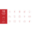 15 soft icons vector image vector image