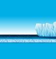 a cold arctic landscape vector image