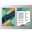 Abstract green and orange Triangle design Brochure vector image vector image