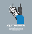 Adjustable Pedal vector image vector image