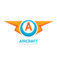 aircraft - business logo template concept vector image vector image