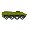 Armoured troop carrier icon flat style