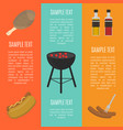 barbecue grill vertical banners set vector image vector image