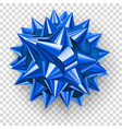 big blue shiny bow vector image vector image