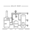 boiler room equipment vector image vector image