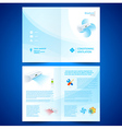 booklet catalog brochure folder air conditioner vector image vector image