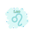cartoon leo zodiac icon in comic style astrology vector image