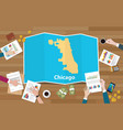 chicago usa united states of america city region vector image vector image
