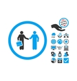 Contract Meeting Flat Icon With Bonus vector image