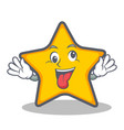 crazy star character cartoon style vector image vector image
