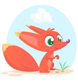 cute cartoon fox character vector image vector image