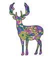 deer silhouette vector image vector image