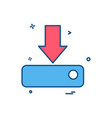 down arrow icon design vector image vector image