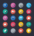 e-commerce simple color icons vector image