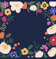 elegant square background with colorful bloom vector image