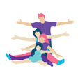 family with children people concept flat icons vector image