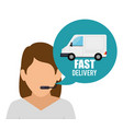 fast delivery character service vector image
