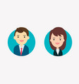 flat businessman and businesswoman characters vector image vector image