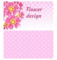 Floral pink background with flower vector image