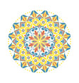 flower mandala oriental ethnic circular ornament vector image vector image