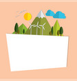 frame of paper nature on the island concept about vector image vector image