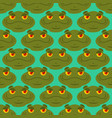 frog seamless pattern amphibian ornament toad vector image vector image